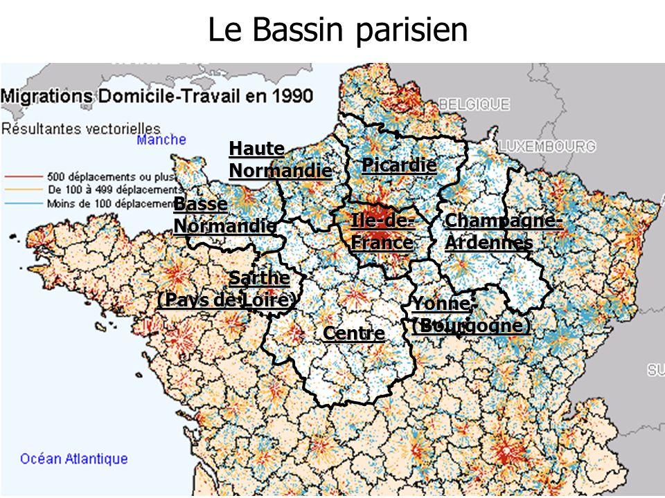 Le Bassin parisien Haute Normandie Basse Normandie Sarthe (Pays de Loire) Picardie Champagne- Ardennes Yonne (Bourgogne) Centre Ile-de- France