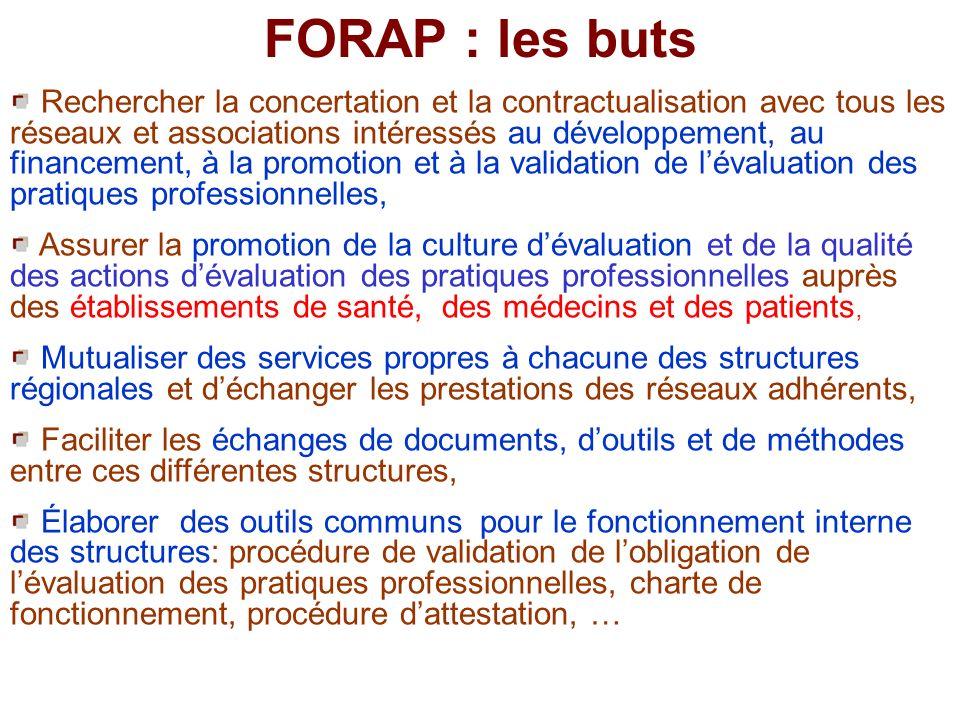 5 Structures régionales fondatrices: Aquitaine CCECQA, Nord Pas de Calais RSQ, Lorraine EVALOR, Franche Comté REQUA, Rhône Alpes CEPPRAL.