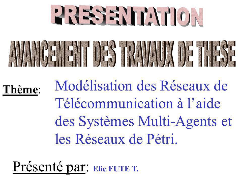 Modélisation des Réseaux de Télécommunication à laide des Systèmes Multi-Agents et les Réseaux de Pétri.