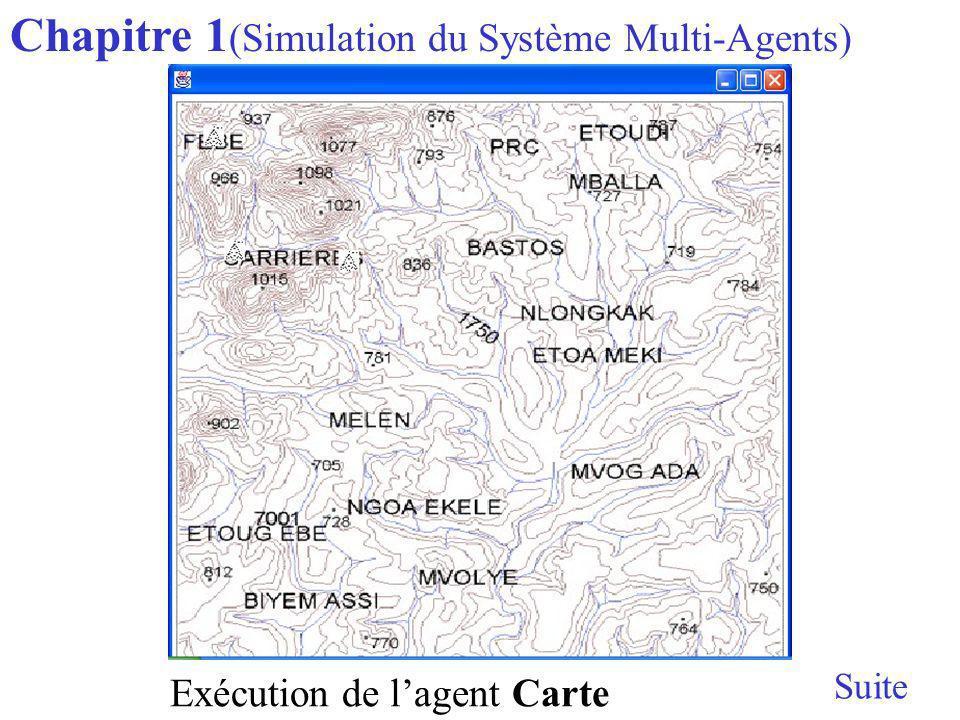 Chapitre 1 (Simulation du Système Multi-Agents) Suite Exécution de lagent Carte