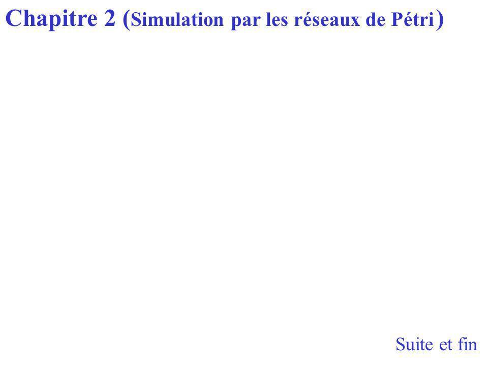 Suite et fin Chapitre 2 ( Simulation par les réseaux de Pétri )