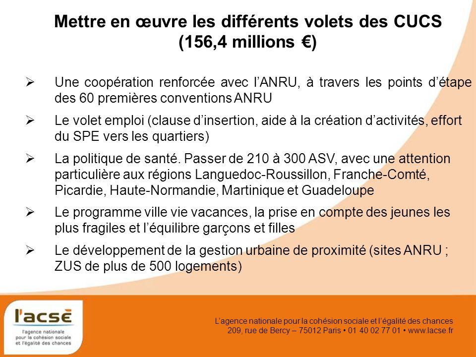 Lagence nationale pour la cohésion sociale et légalité des chances 209, rue de Bercy – 75012 Paris 01 40 02 77 01 www.lacse.fr Mettre en œuvre les dif