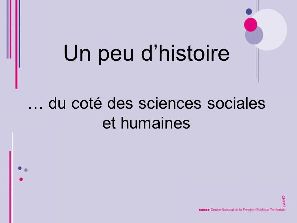 Un peu dhistoire … du coté des sciences sociales et humaines