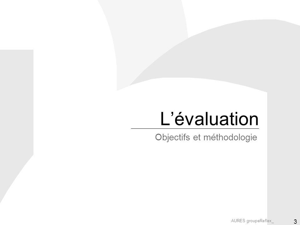 AURES groupeReflex_ 3 Lévaluation Objectifs et méthodologie