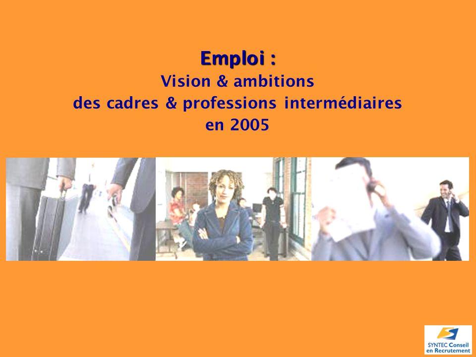 Emploi : Vision & ambitions des cadres & professions intermédiaires en 2005