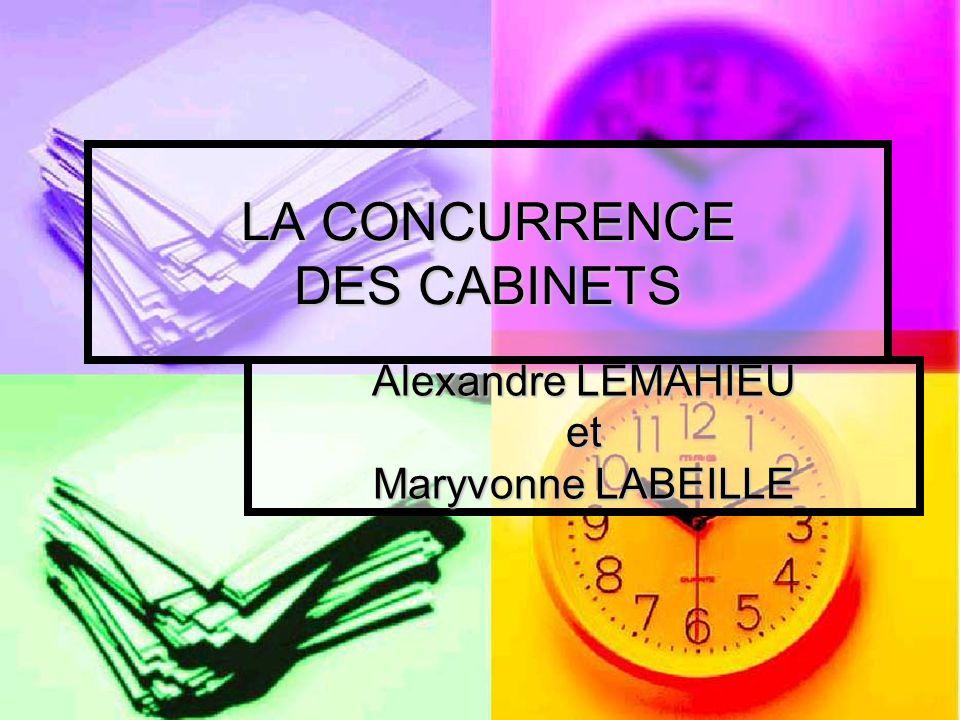 LEVOLUTION DE LA CONCURRENCE DES CABINETS EN FRANCE