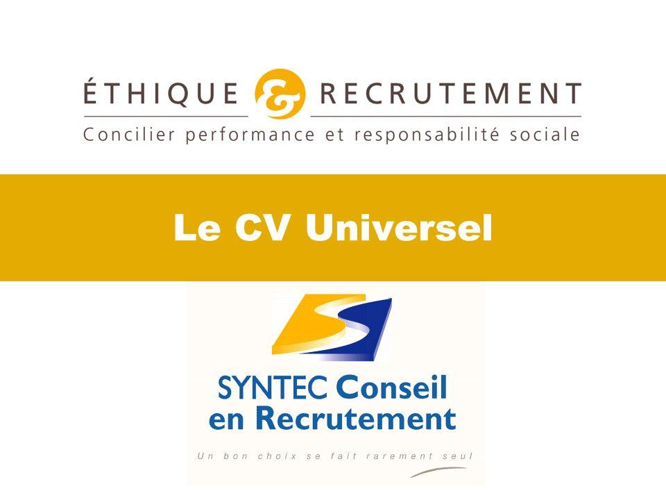 Le CV Universel