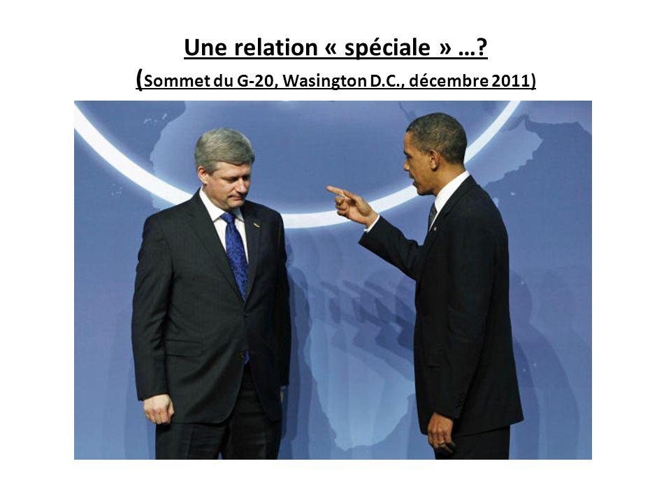 Une relation « spéciale » …? ( Sommet du G-20, Wasington D.C., décembre 2011)