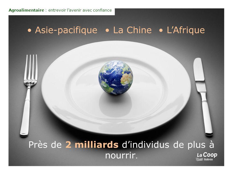 Asie-pacifique La Chine LAfrique Près de 2 milliards dindividus de plus à nourrir.