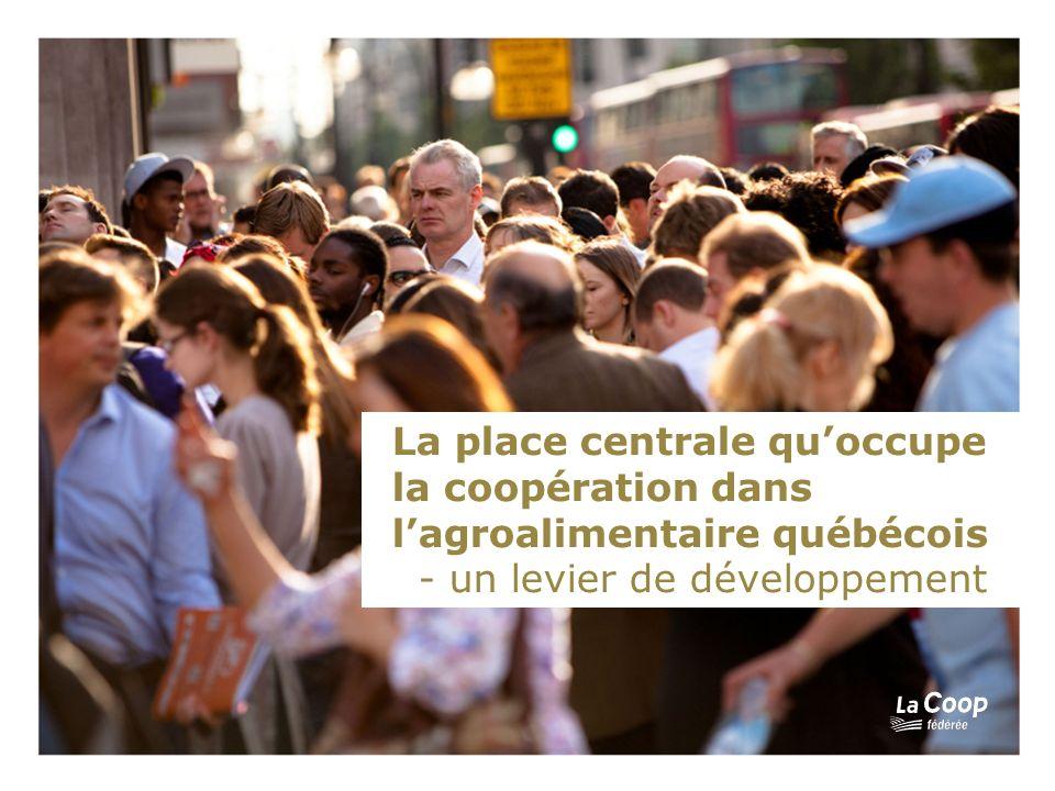 La place centrale quoccupe la coopération dans lagroalimentaire québécois - un levier de développement