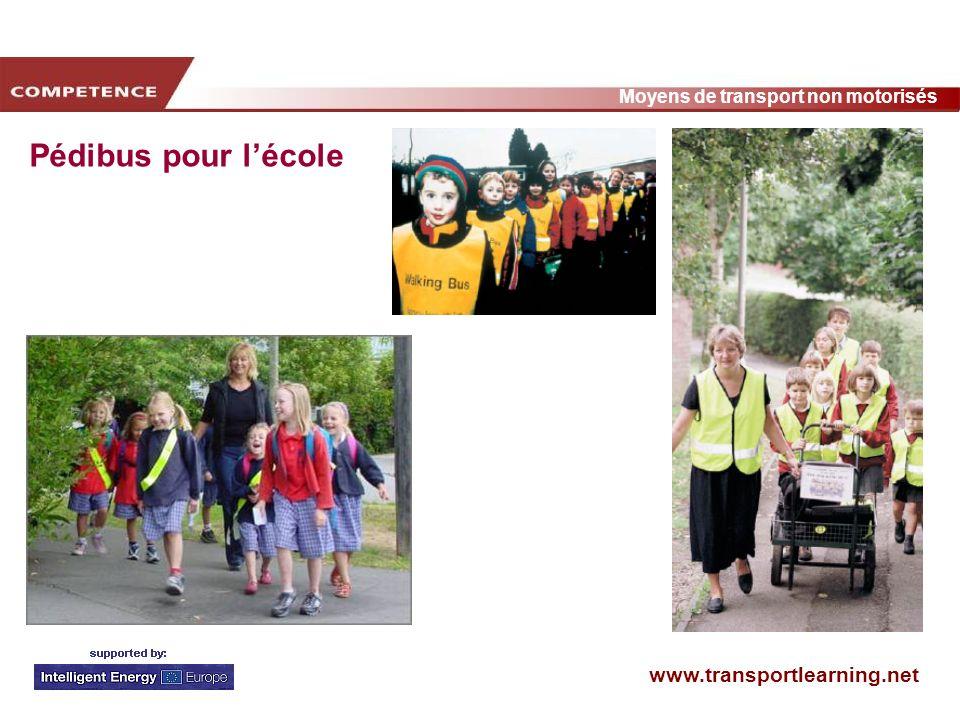 www.transportlearning.net Moyens de transport non motorisés Pédibus pour lécole