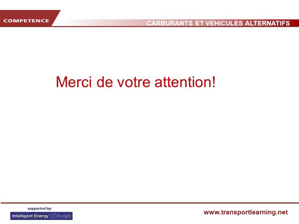 CARBURANTS ET VEHICULES ALTERNATIFS www.transportlearning.net Merci de votre attention!