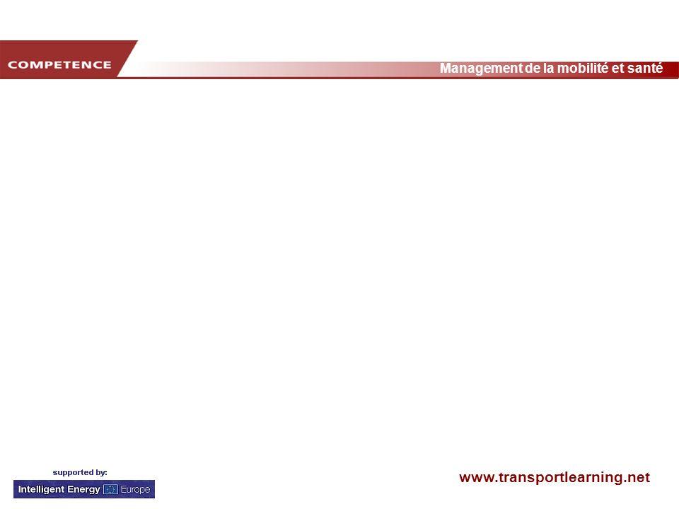 www.transportlearning.net Management de la mobilité et santé