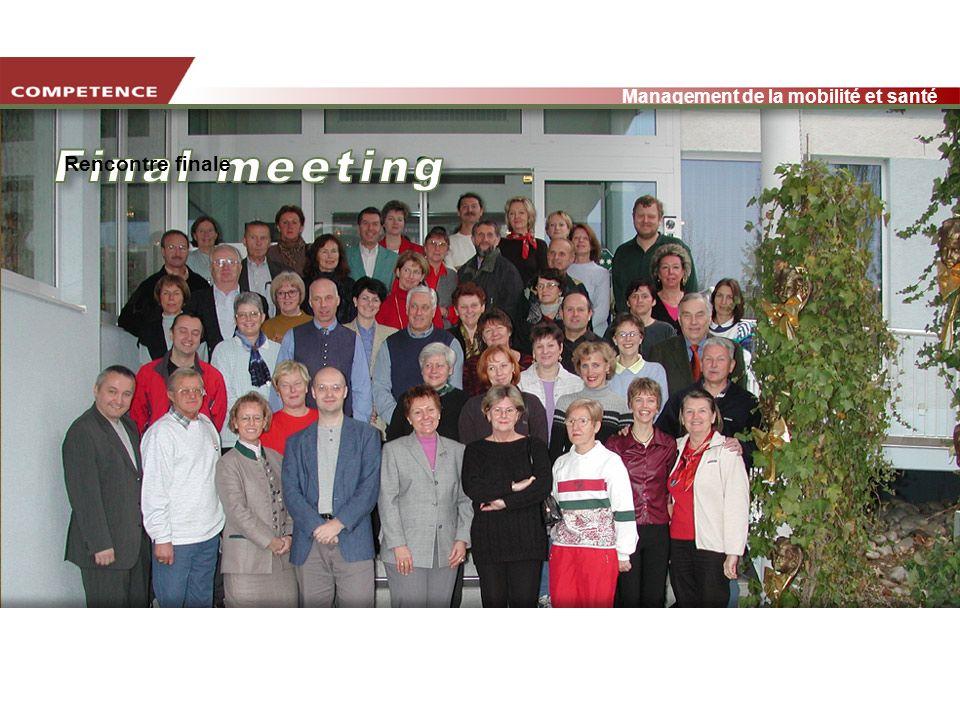www.transportlearning.net Management de la mobilité et santé Rencontre finale