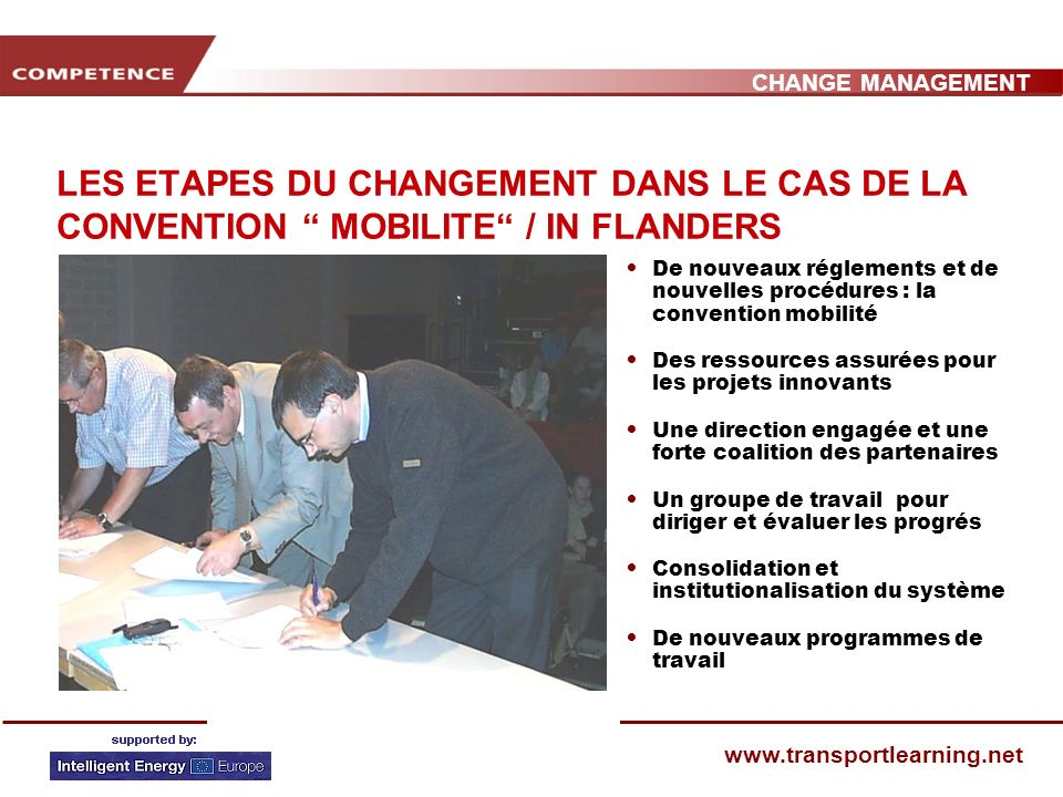 CHANGE MANAGEMENT www.transportlearning.net CHANGER LES CONDUCTEURS