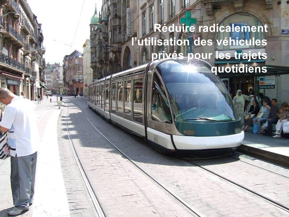 Séance de formation – Participation publique www.transportlearning.net Réduire radicalement lutilisation des véhicules privés pour les trajets quotidi