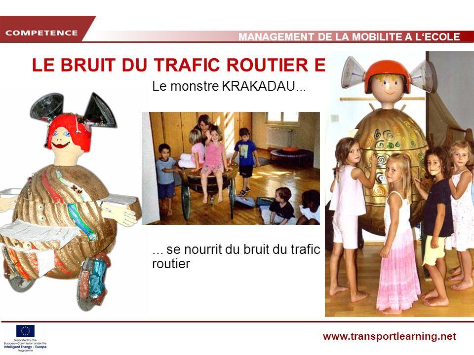 MANAGEMENT DE LA MOBILITE A LECOLE www.transportlearning.net LE BRUIT DU TRAFIC ROUTIER ET LA SANTÉ Le monstre KRAKADAU......
