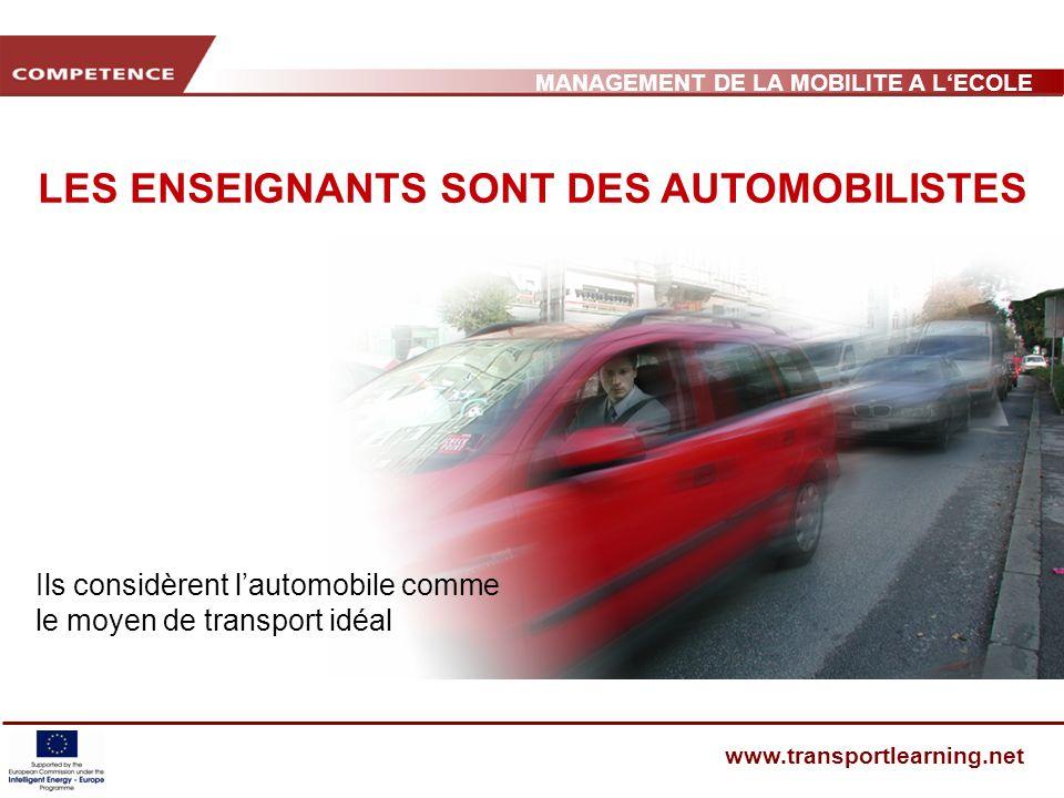 MANAGEMENT DE LA MOBILITE A LECOLE www.transportlearning.net MOIS SANS VOITURE (MSV) Allons à pied à lécole !