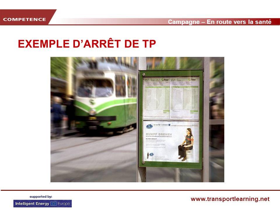 Campagne – En route vers la santé www.transportlearning.net Connaissez-vous la campagne En route vers la santé .