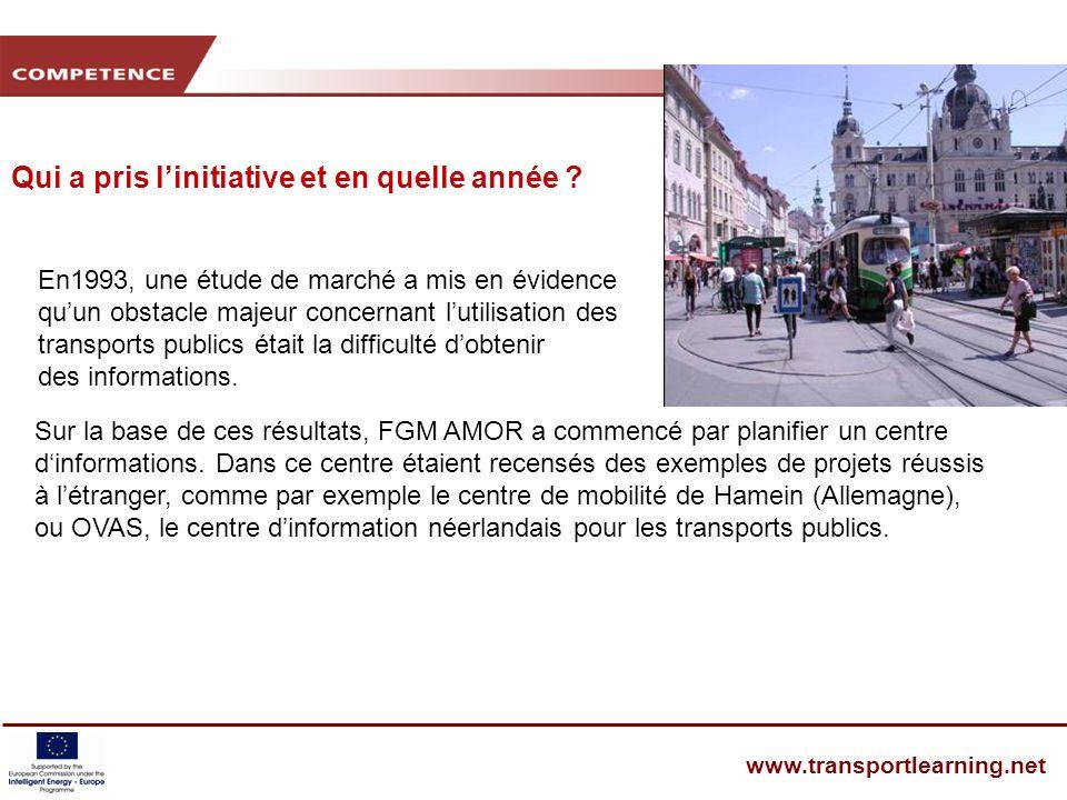 CENTRES DE MOBILITÉ www.transportlearning.net Sur la base de ces résultats, FGM AMOR a commencé par planifier un centre dinformations.