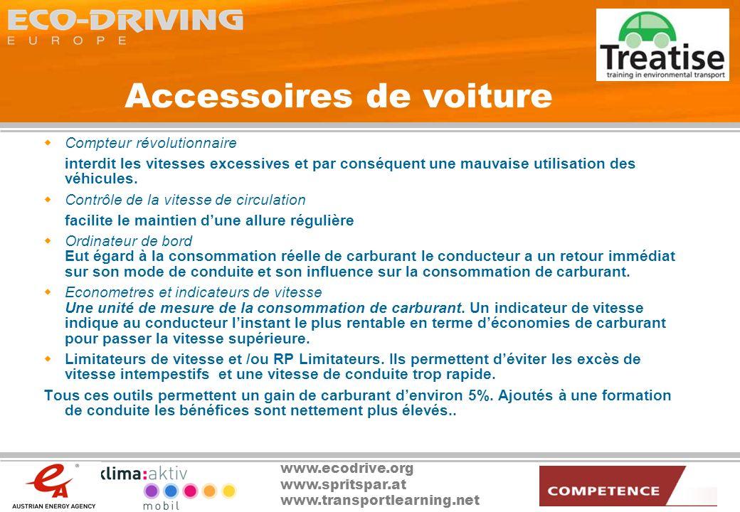 www.ecodrive.org www.spritspar.at www.transportlearning.net Accessoires de voiture Compteur révolutionnaire interdit les vitesses excessives et par co
