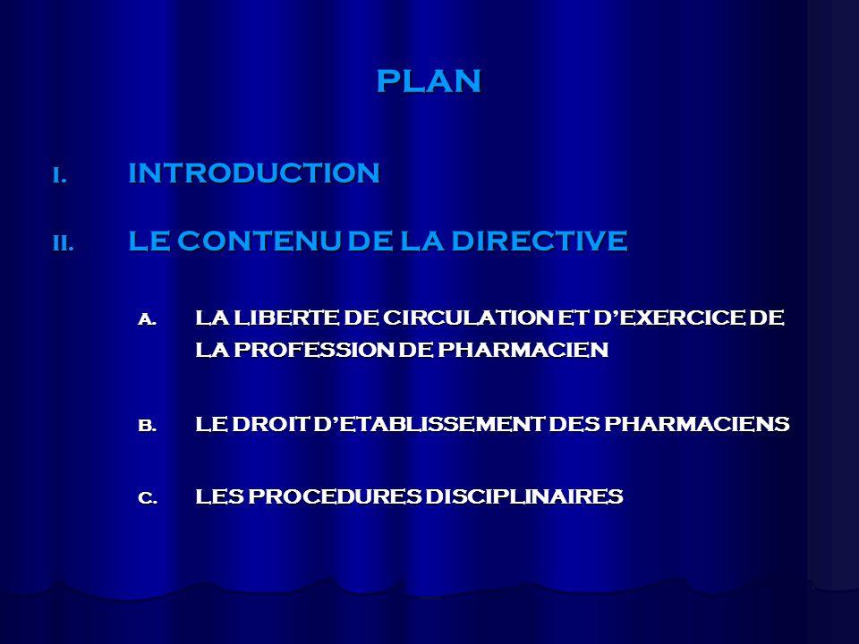 PLAN III.LANALYSE CRITIQUE DE LA DIRECTIVE A. LES POINTS DE SATISFACTION A RELEVER B.