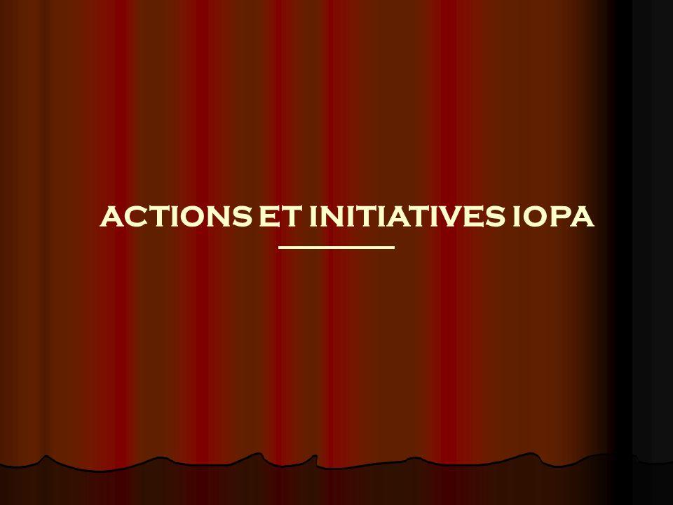 PLAN I.INFORMATIONS GENERALES SUR LIOPA II.ACTIONS ET INITIATIVES A.