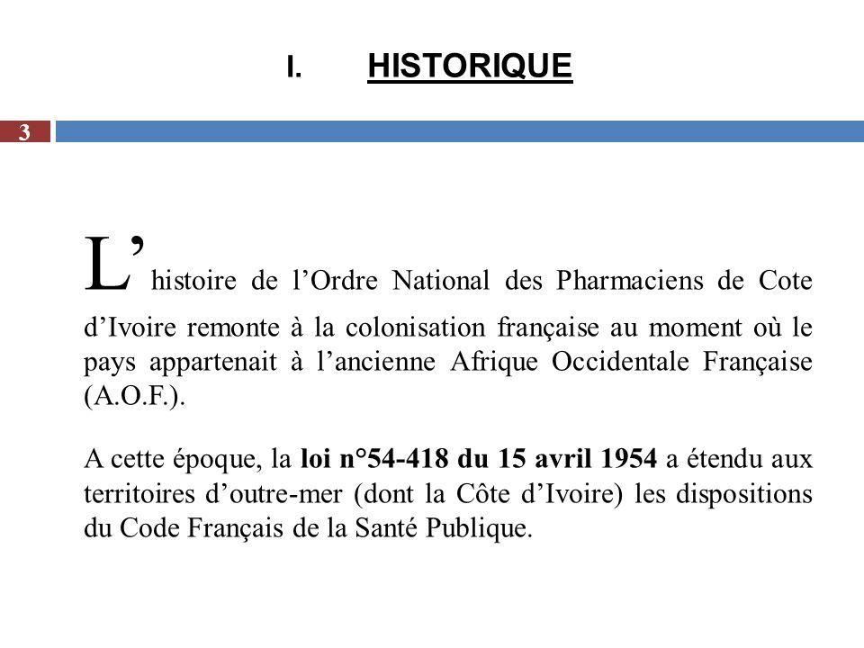 L a république de Côte dIvoire comptait 54 pharmaciens repartis comme suit: II.Effectif au 20 Février 1960 14