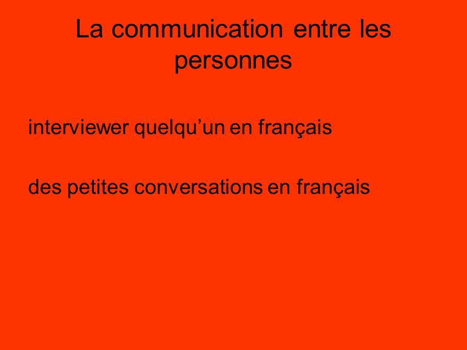 La communication entre les personnes interviewer quelquun en français des petites conversations en français