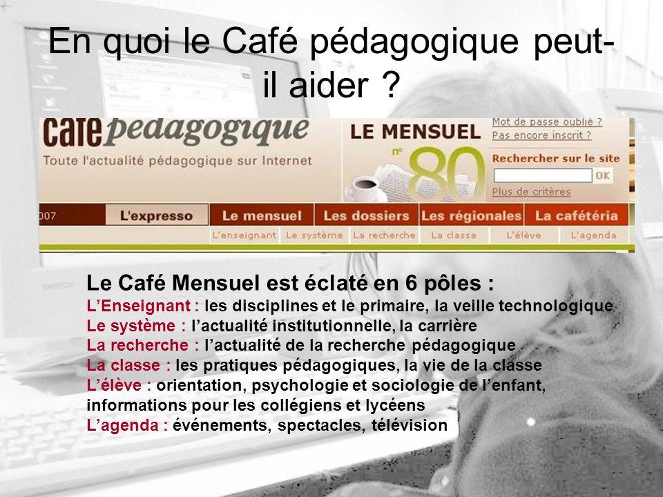 En quoi le Café pédagogique peut- il aider .