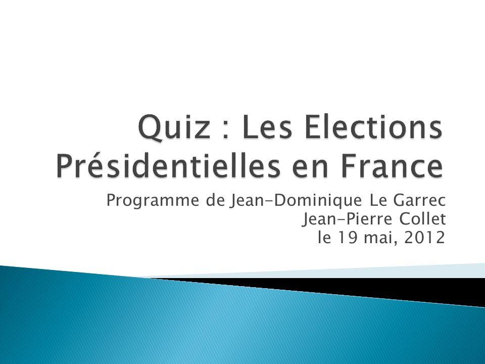 Programme de Jean-Dominique Le Garrec Jean-Pierre Collet le 19 mai, 2012