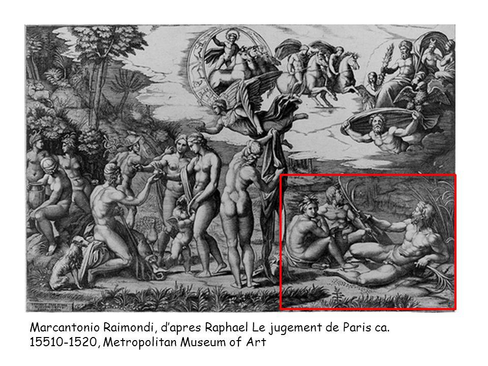 Marcantonio Raimondi, dapres Raphael Le jugement de Paris ca.