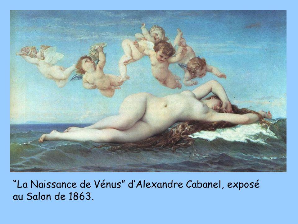 La Naissance de Vénus dAlexandre Cabanel, exposé au Salon de 1863.