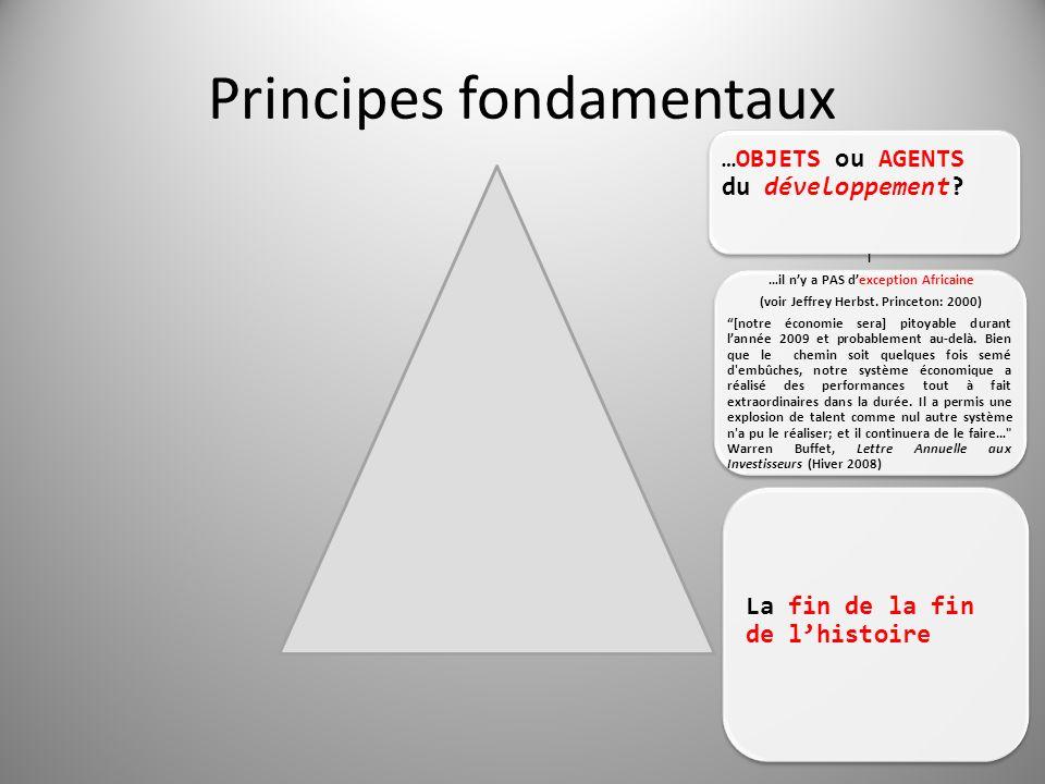 Principes fondamentaux …OBJETS ou AGENTS du développement.