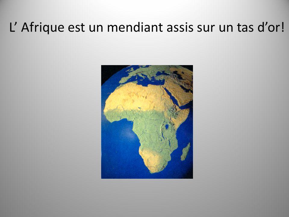 L Afrique est un mendiant assis sur un tas dor!
