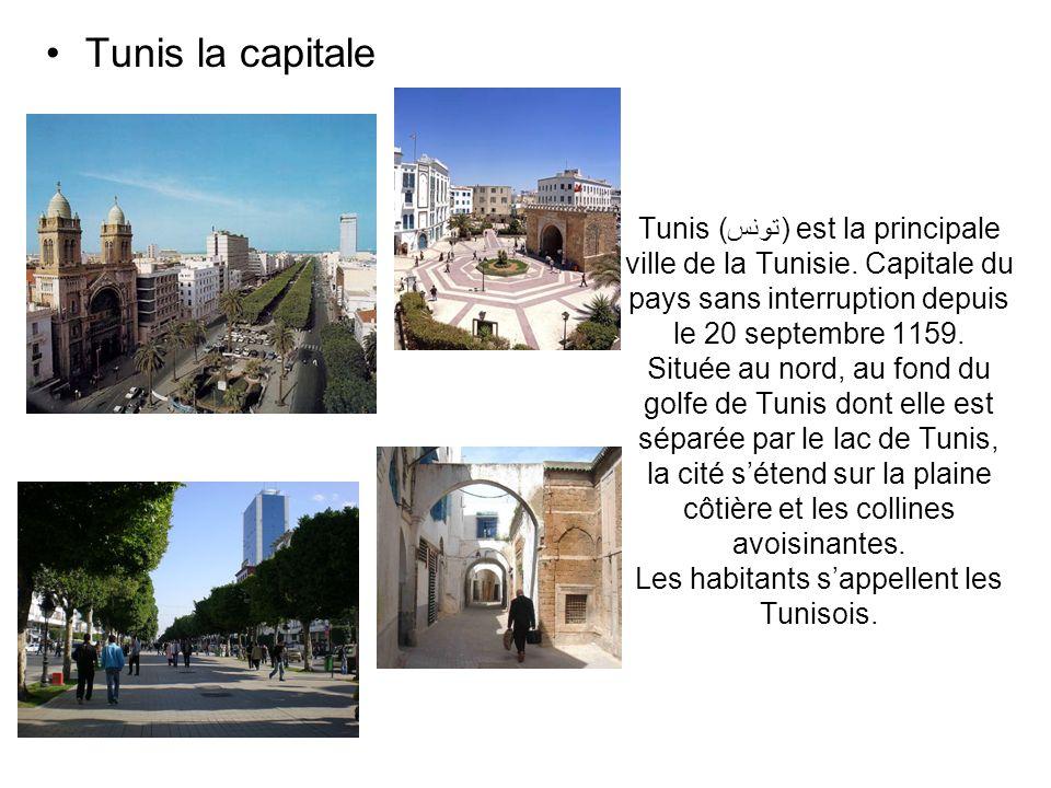 Tunis (تونس) est la principale ville de la Tunisie. Capitale du pays sans interruption depuis le 20 septembre 1159. Située au nord, au fond du golfe d