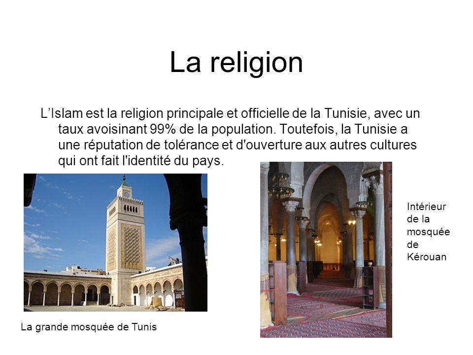 La religion LIslam est la religion principale et officielle de la Tunisie, avec un taux avoisinant 99% de la population. Toutefois, la Tunisie a une r