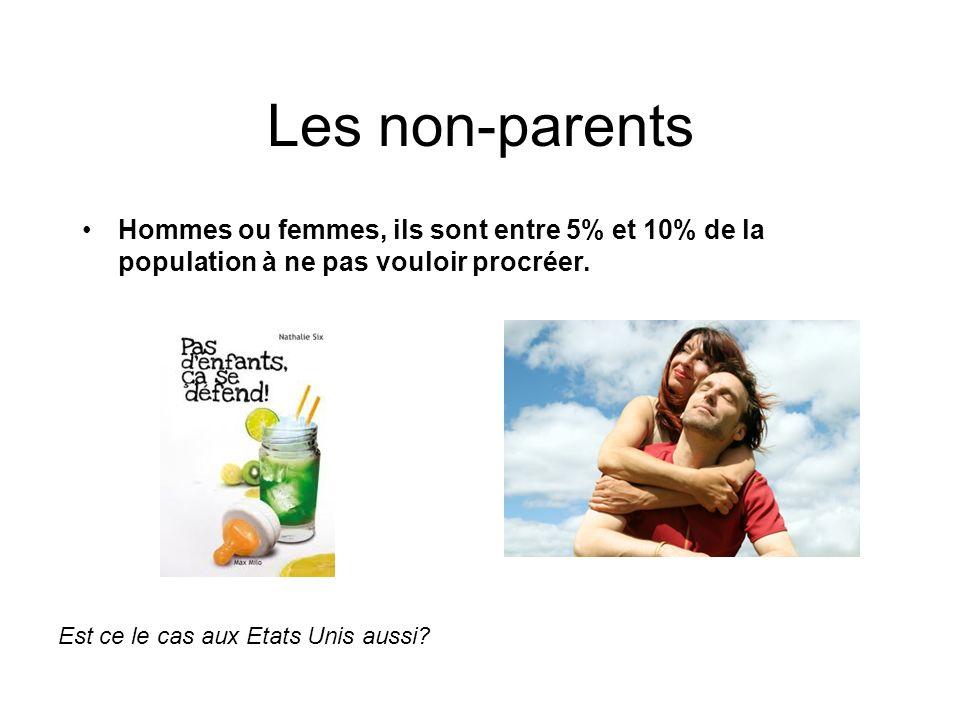 Les non-parents Hommes ou femmes, ils sont entre 5% et 10% de la population à ne pas vouloir procréer. Est ce le cas aux Etats Unis aussi?