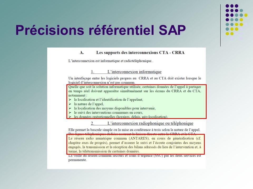Précisions référentiel SAP