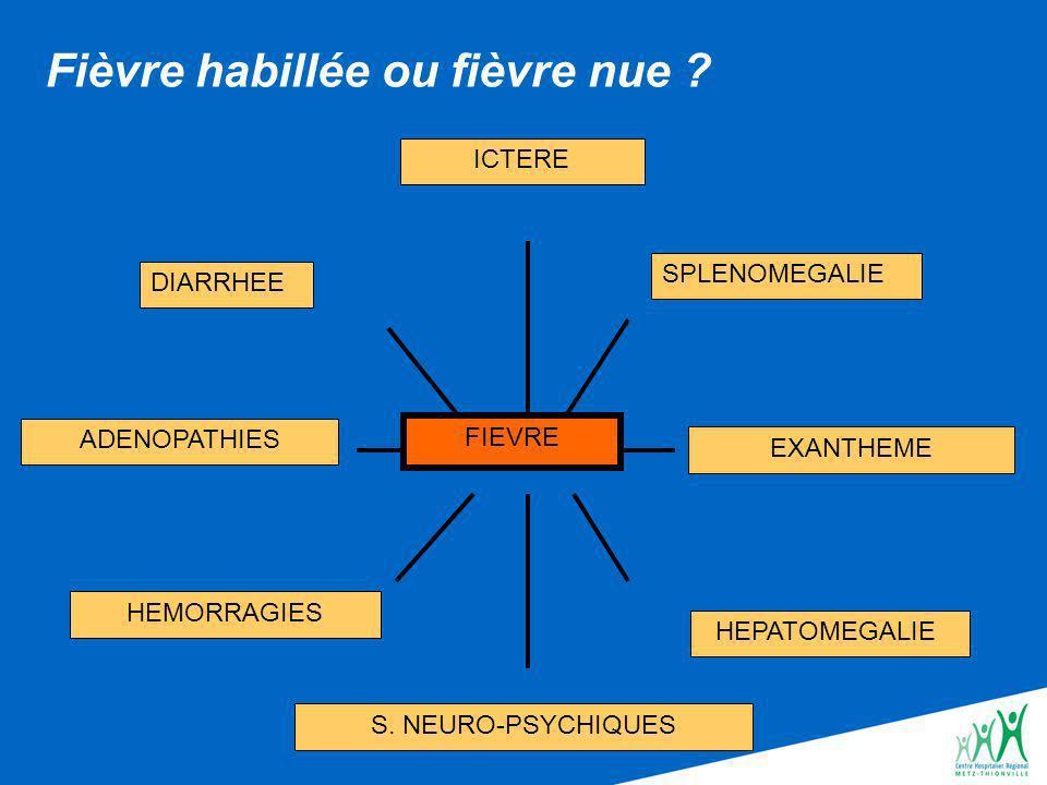FIEVRE DIARRHEE ADENOPATHIES HEMORRAGIES ICTERE HEPATOMEGALIE SPLENOMEGALIE S.