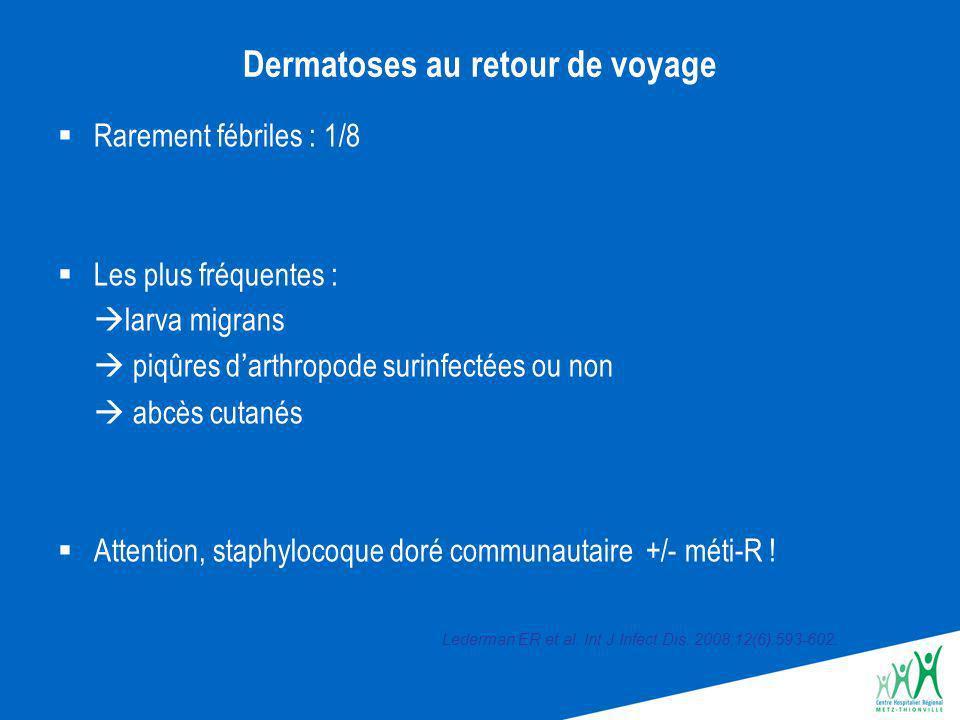 Décès par infection au retour Événement rare en France Paludisme à P.