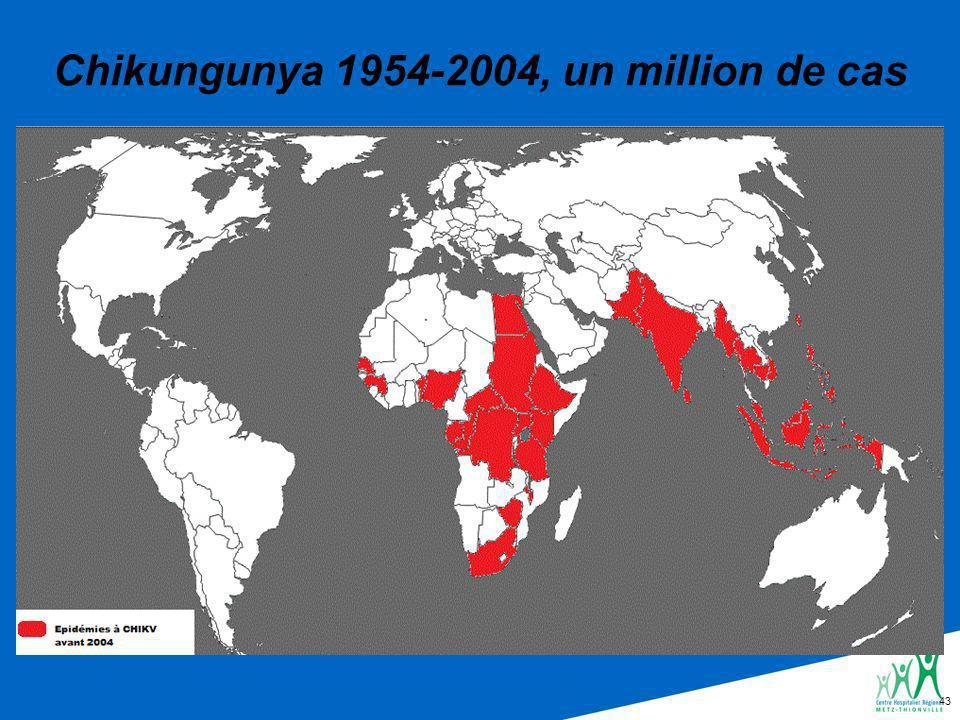 43 Chikungunya 1954-2004, un million de cas
