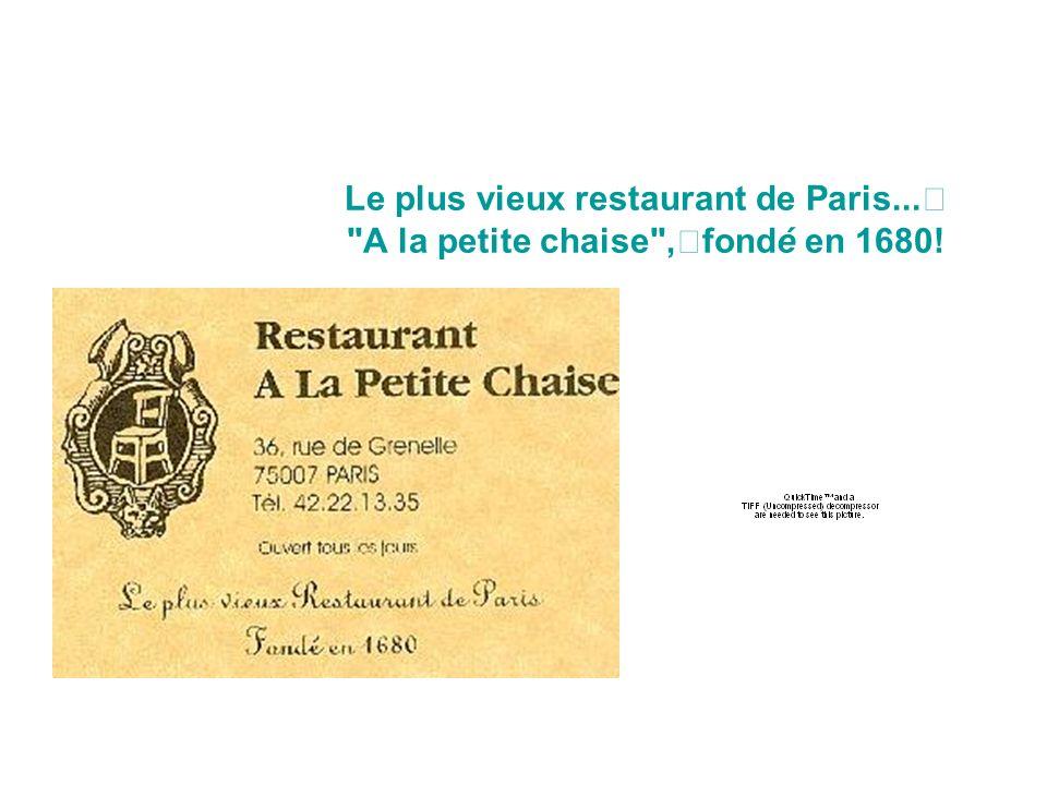 Le plus vieux restaurant de Paris...