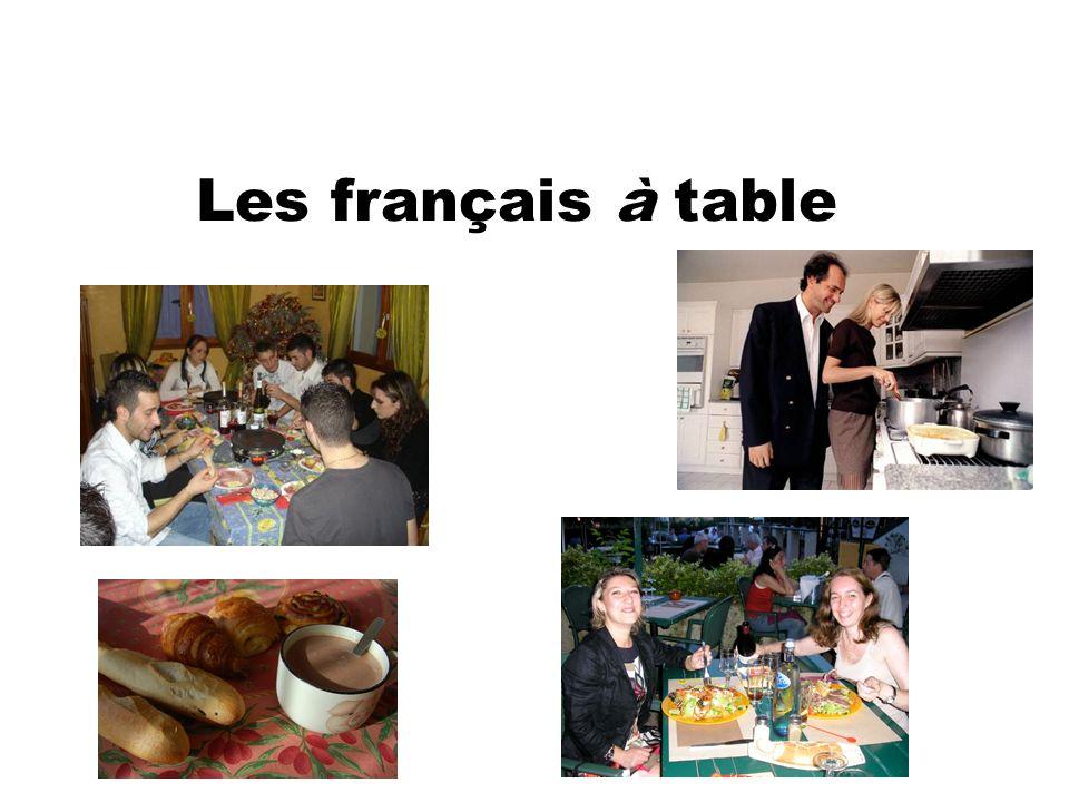 Les français à table