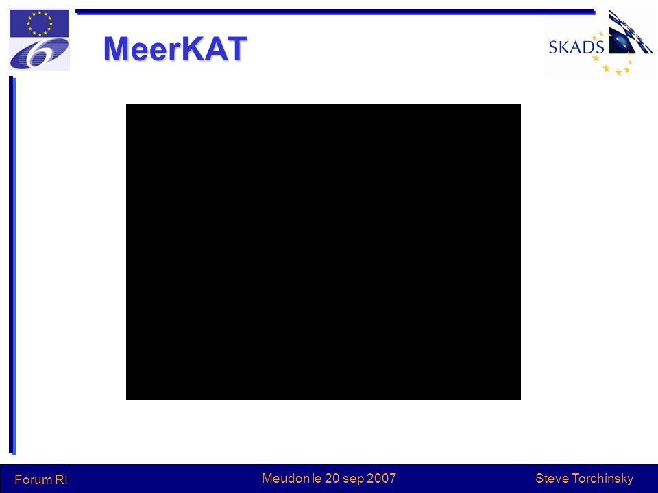 Steve Torchinsky Forum RI Meudon le 20 sep 2007 SKA en Australie 2007: ~AUS101M pour ASKAP (anciennement xNTD) –Pour une période de 4 ans –Développement des paraboles avec phased array feed