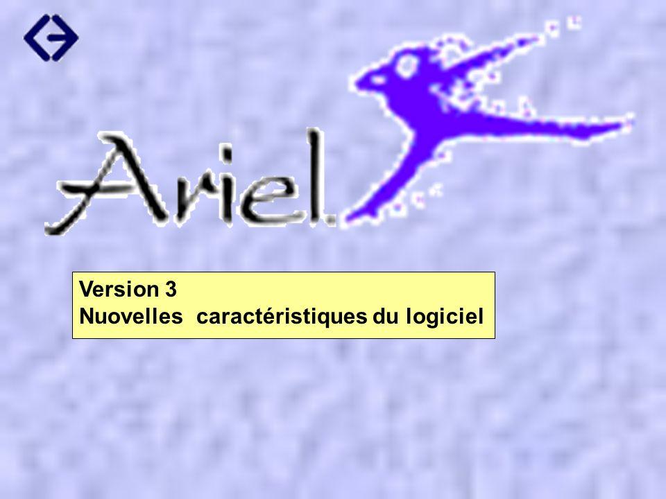 Version 3 Nuovelles caractéristiques du logiciel
