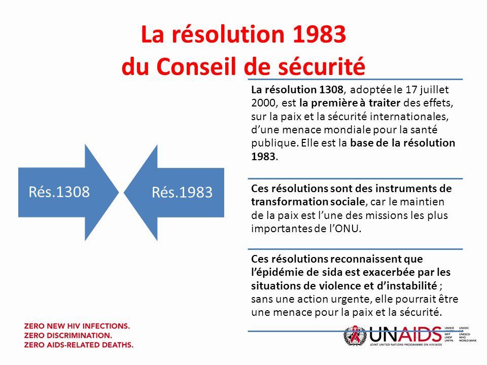 Résolution 1983 du Conseil de sécurité (par.6 et 7) 6.