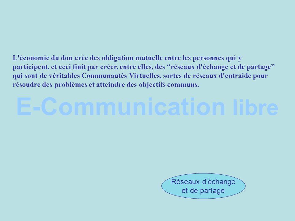 E-Communication libre CIC Partage de la connaissance Responsabilité Culture du don Réseaux déchange et de partage