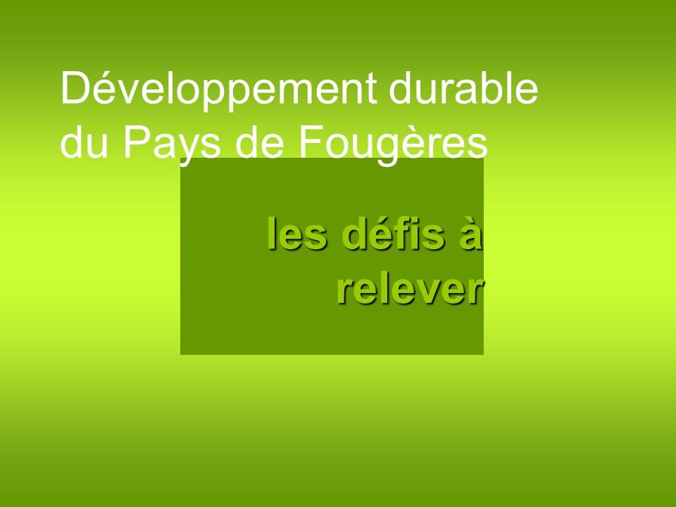 Développement durable du Pays de Fougères les défis à relever