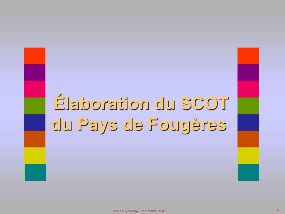 9 Élaboration du SCOT du Pays de Fougères